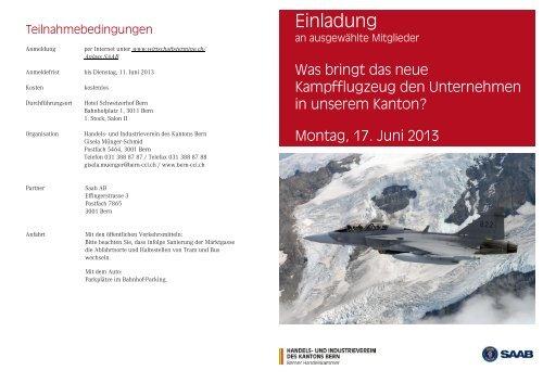 Einladung Saab Gripen