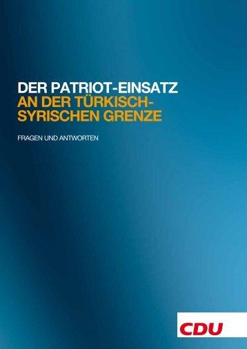 der patriot-einsatz an der türkisch- syrischen grenze - CDU ...
