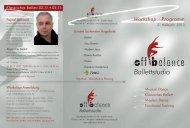 Workshopflyer 2013 - off balance - Ballettstudio