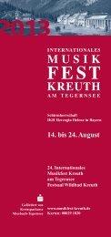 pdf-Datei zum Herunterladen - Oleg Kagan Musikfest Kreuth