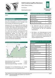 OLB-FondsConceptPlus Wachstum - Oldenburgische Landesbank