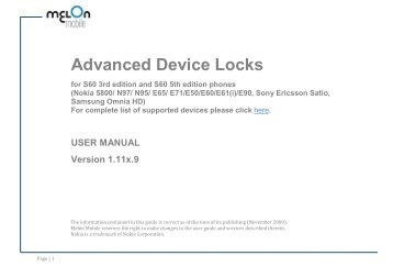 Advanced Device Locks - Nokia Software Market