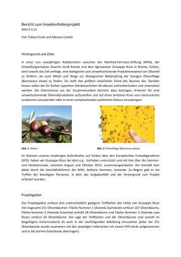 Ergebnisse zur Erprobung biologischer Schädlingsbekämpfung der ...
