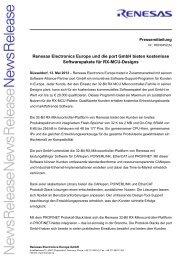 Renesas Electronics Europe und die port GmbH bieten kostenlose ...
