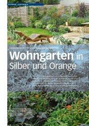 Wohngarten in Silber und Orange - die Bäumler