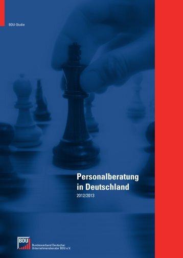 Diese Studie zeigt die Entwicklung der Personalberatung in ...