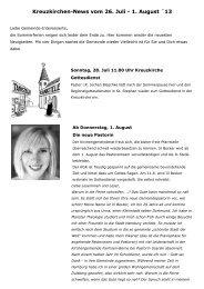 Kreuzkirchen-News vom 26. Juli - 1. August ´13 - Ev. Luth. Kreuz ...