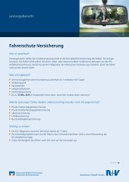 Fahrerschutz-Versicherung - R+V Versicherung