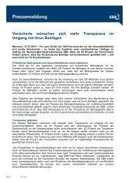 Versicherte wünschen sich mehr Transparenz im Umgang mit ... - SBK
