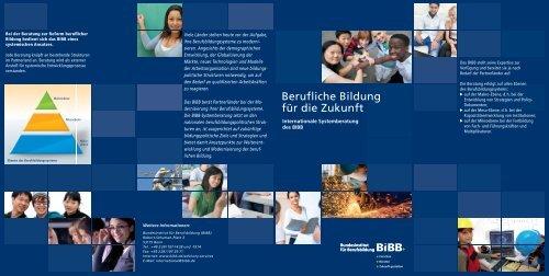 Flyer Berufliche Bildung für die Zukunft - BiBB