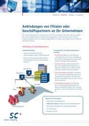 Anbindung von Geschäftspartnern und Filialen - Science und ...
