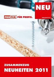 NEUhEitEN 2011 - Profix AG