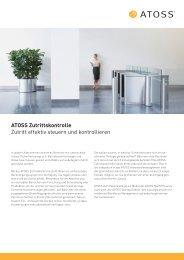 ATOSS Zutrittskontrolle Zutritt effektiv steuern und kontrollieren