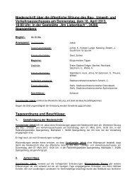 Niederschrift über die öffentliche Sitzung des Bau ... - Spangenberg
