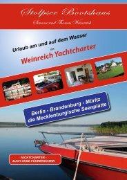 Weinreich Yachtcharter - Stolpsee Bootshaus in Himmelpfort