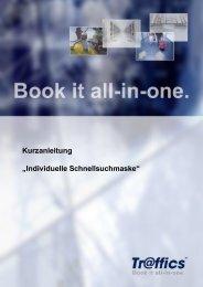 """Kurzanleitung """"Individuelle Schnellsuchmaske"""" - Travel4Joy"""