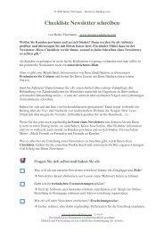 Checkliste Newsletter schreiben - Kreativesdenken.com