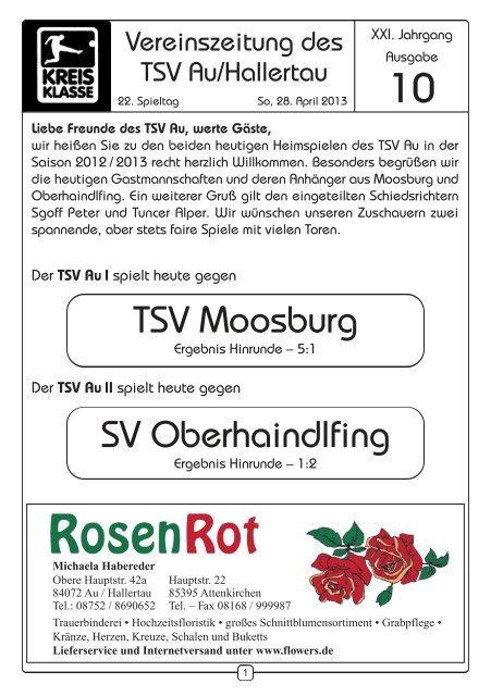 Zeitung vom 28.04.2013 - TSV Au id Hallertau