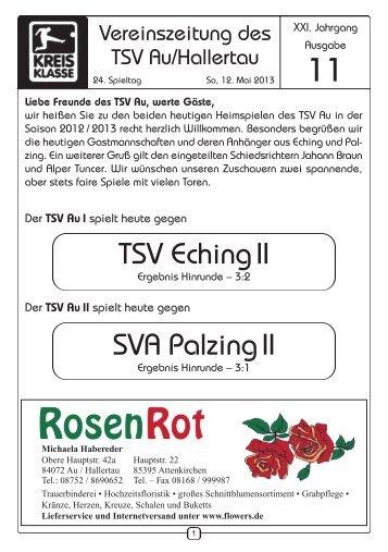 Zeitung vom 12.05.2013 - TSV Au id Hallertau