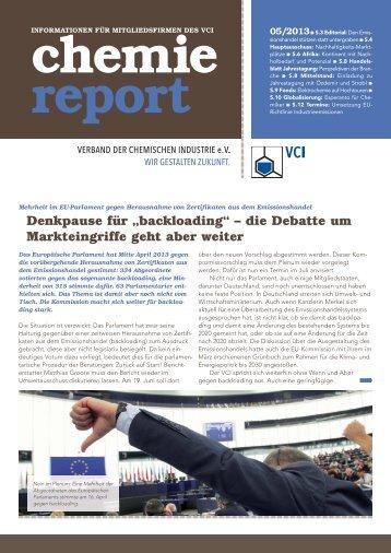 chemie report 05/2013 - Verband der Chemischen Industrie e.V.