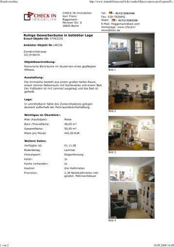 Ruhige Gewerberäume in beliebter Lage Druckvorschau http://www ...