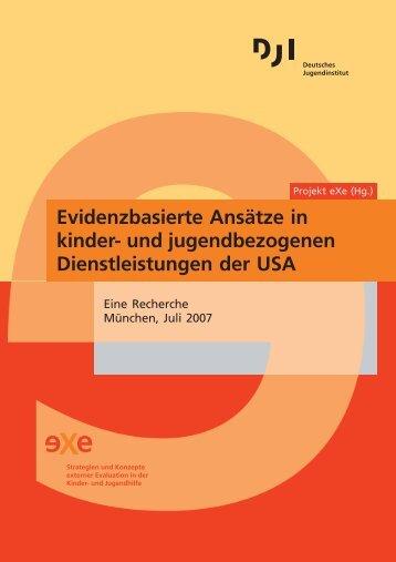 Evidenzbasierte Ansätze in kinder - Deutsches Jugendinstitut e.V.