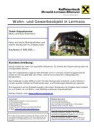 Wohn- und Gewerbeobjekt in Lermoos - Ehrwald-Lermoos-Biberwier