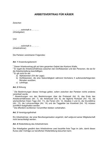 Arbeitsvertrag Aktionbildung