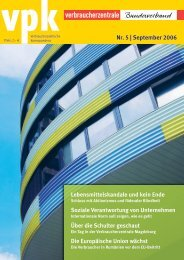 vpk Nr. 5 – September 2006 - vzbv
