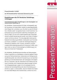 Empfehlungen des 39. Deutschen Verkehrsgerichtstags (pdf ... - GTÜ