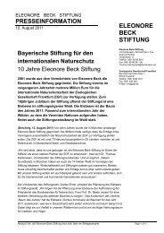 Presseinfo zum Jubiläum 12. August 2011 - Zoologische ...
