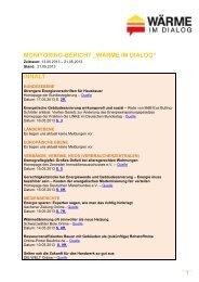 """monitoring-bericht """"wärme im dialog"""" - Zentralverband Deutsches ..."""
