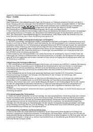 Allgemeine Geschäftsbedingungen der MITACS Telekomservice ...