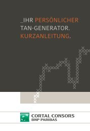 Anleitung für den TAN-Generator - Cortal Consors