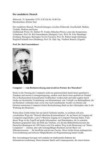 Der modulierte Mensch - ARS Electronica
