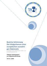 Beatrice Schimmang Die Erfolgschancen einer europäischen ...