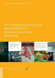 TVZ Theologischer Verlag Zürich Edition NZN bei TVZ Verlag der ...
