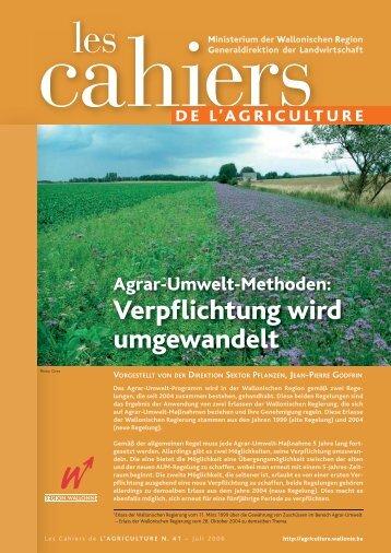 Verpflichtung wird umgewandelt - Portail de l'Agriculture wallonne