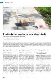 Photocatalysis applied to concrete products