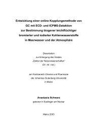 Entwicklung einer online Kopplungsmethode von GC mit ... - ArchiMeD