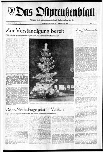 Folge 51 vom 24.12.1968 - Archiv Preussische Allgemeine Zeitung