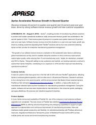 View this press release as a .PDF document - Apriso