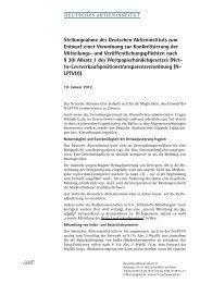 Stellungnahme des Deutschen Aktieninstituts zum Entwurf einer ...