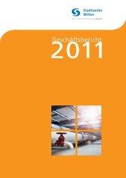 Geschäftsbericht 2011 - Stadtwerke Witten