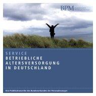 Betriebliche Altersversorgung in Deutschland - BPM ...