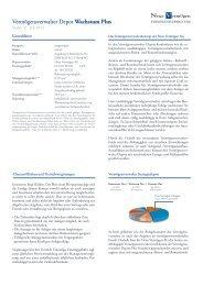 Vermögensverwalter Depot Wachstum Plus - Neue Vermögen AG