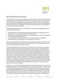 Position des BVI zur betrieblichen Altersversorgung