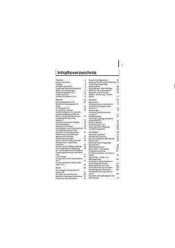 Inhaltsverzeichnis - BdSt Steuerzahler Service GmbH