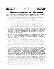 BASIC Manual PDF - Virtual Altair Museum