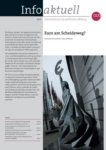 Euro am Scheideweg? - Bundeszentrale für politische Bildung